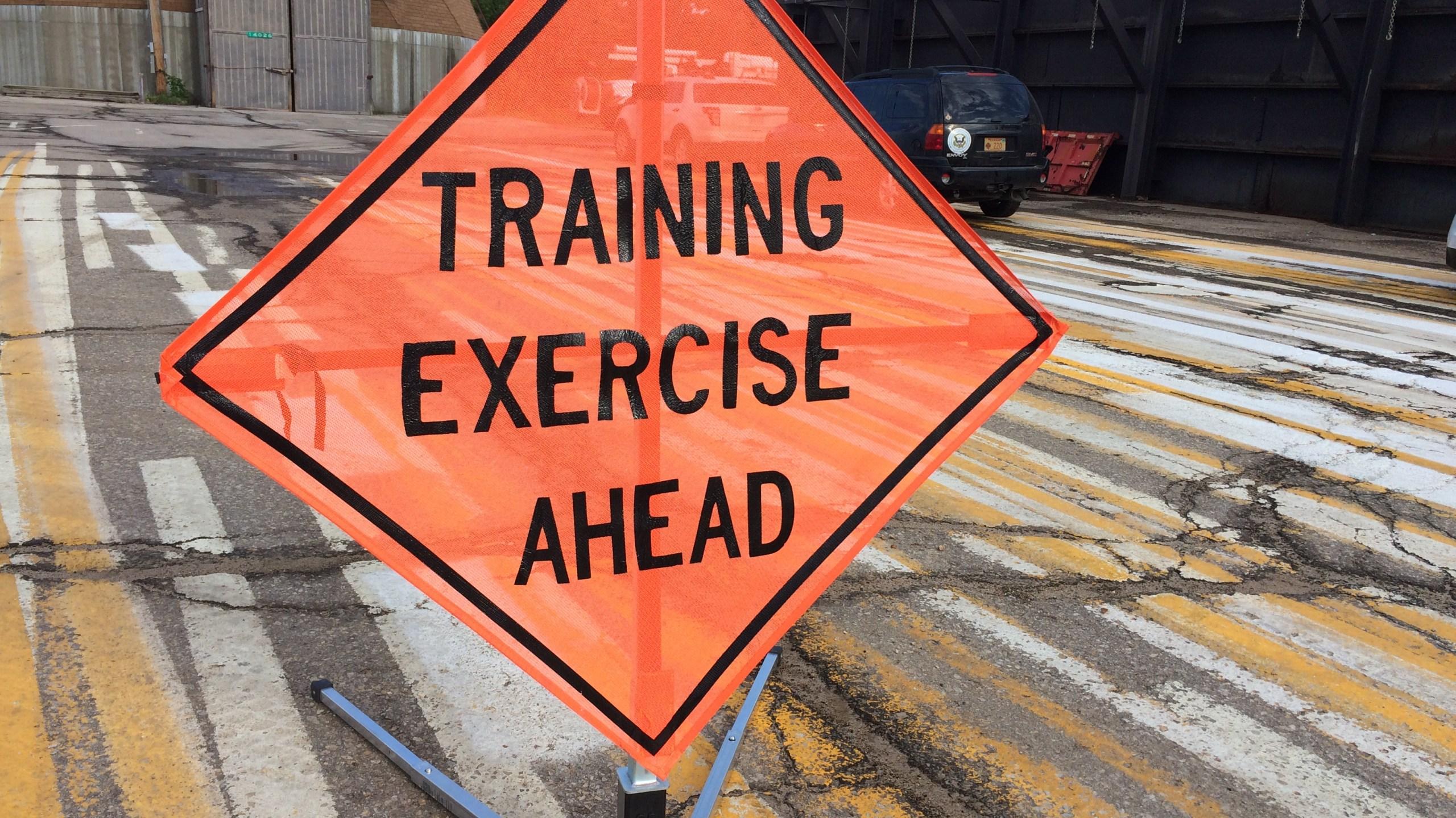 Departments participate in training exercise_141002