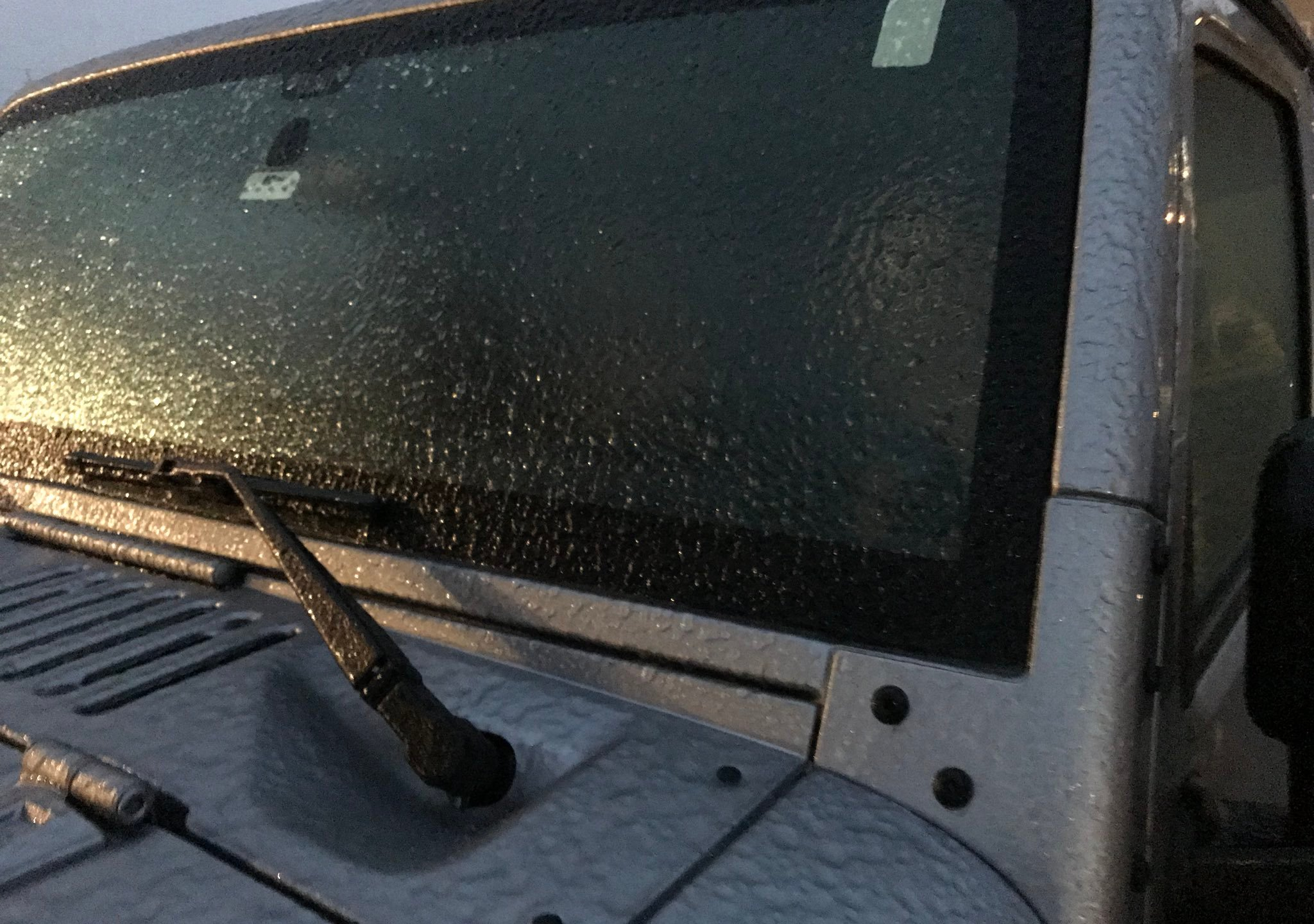 Icy Windshield Accident Reporting