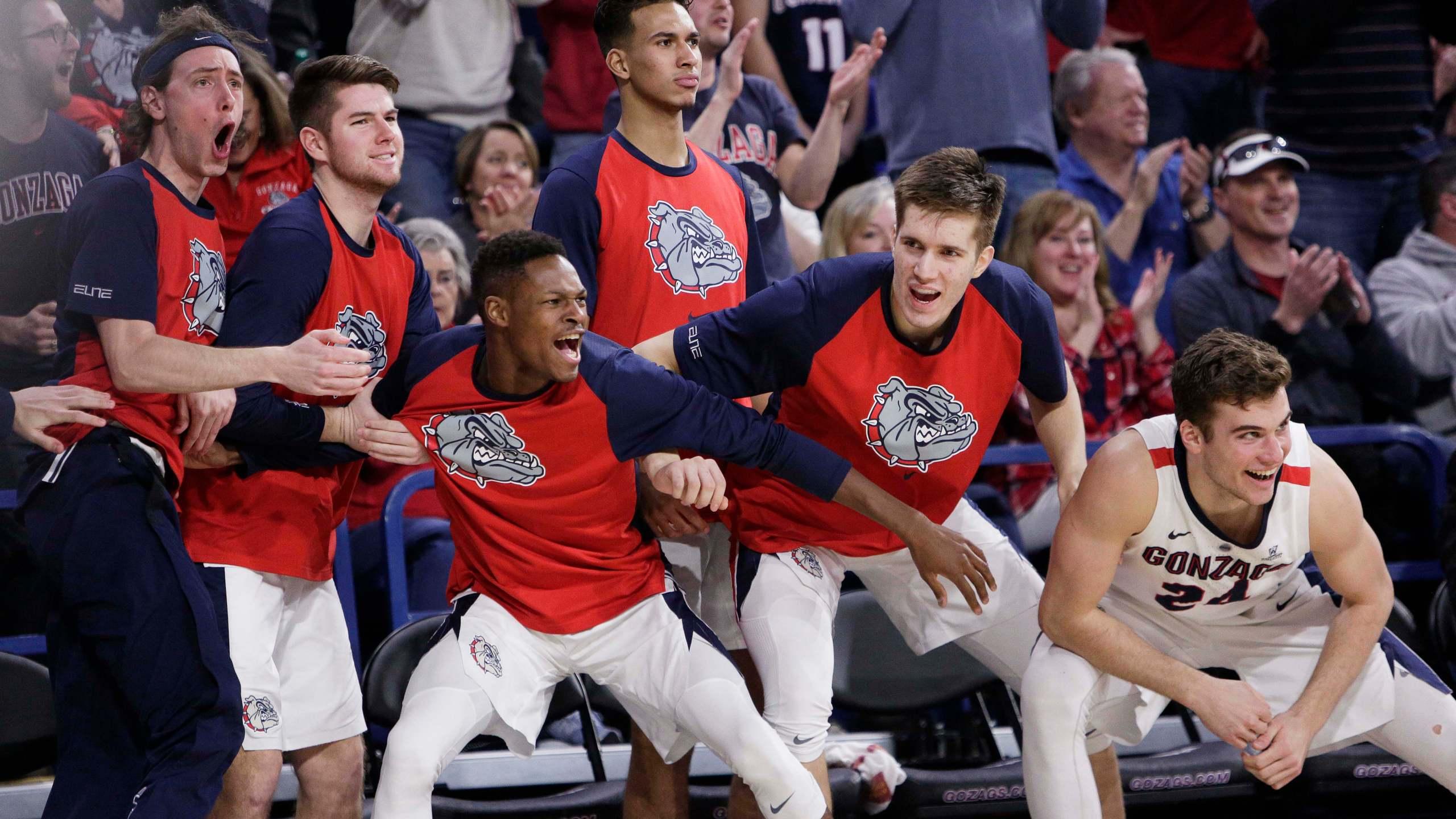 Gonzaga basketball bench