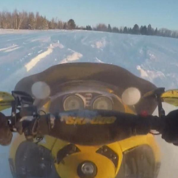 Maine students ride growing trend of snowmobiling to school