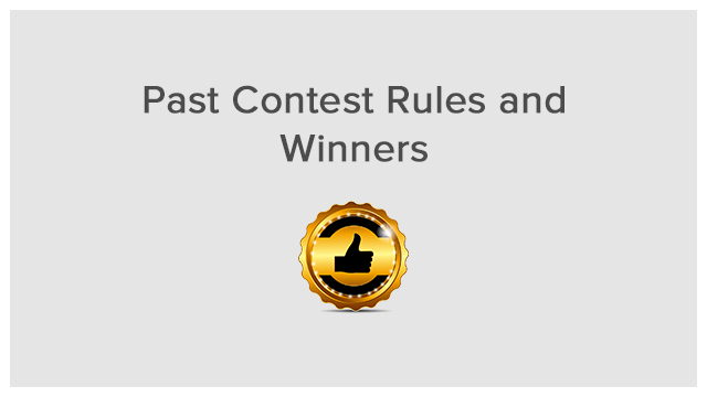 Rules Winners Past Contests