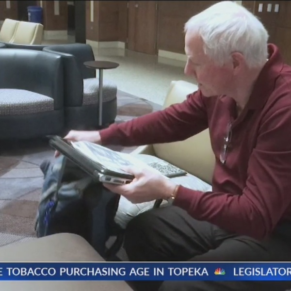Topeka man takes classes at Washburn after retirment