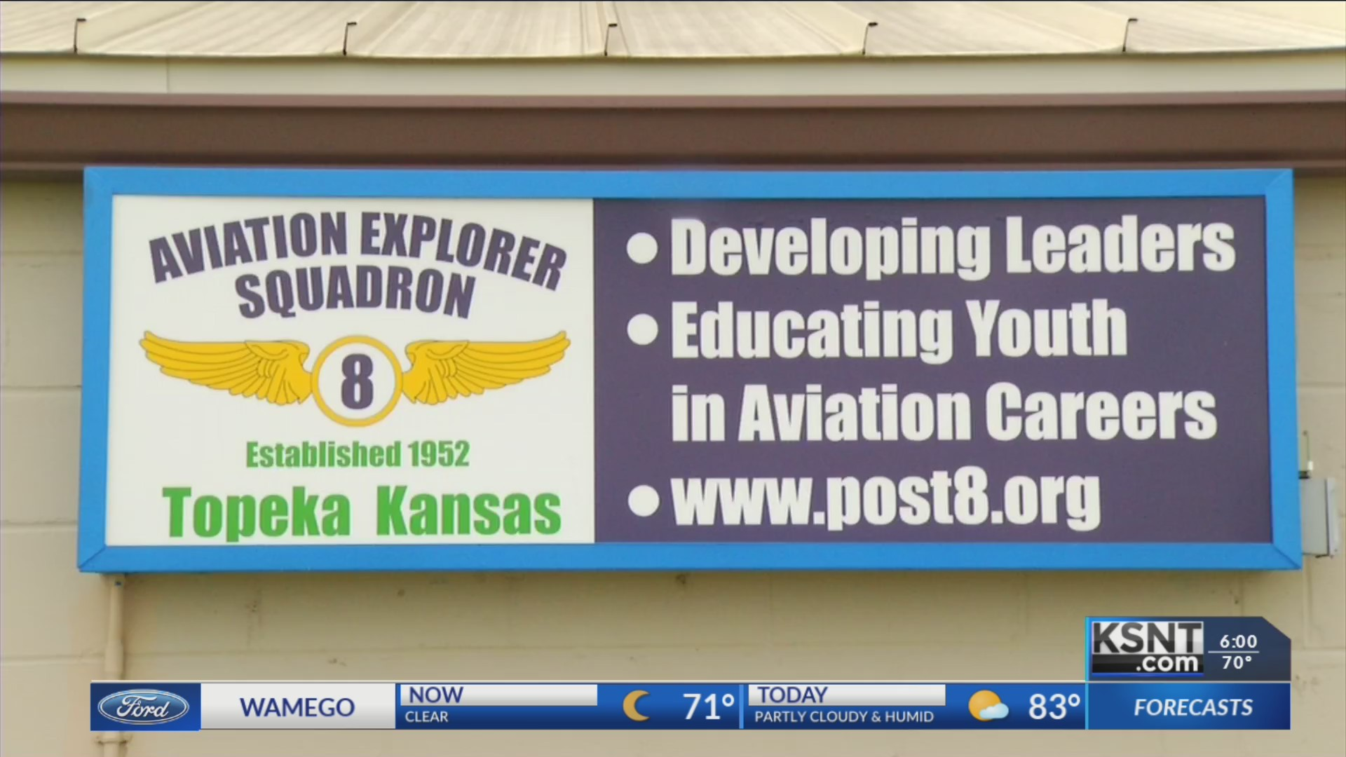 Local Aviation Explorer post looking for new members during open house