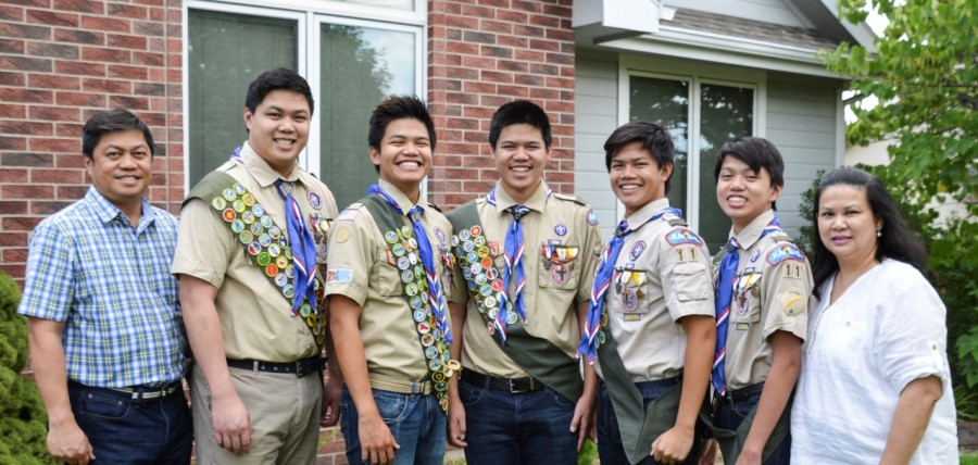 Topeka family's 5 sons earn Eagle Scout rank