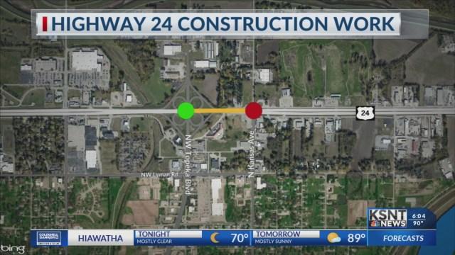 Road work on US 24 to close Topeka Blvd. exit ramps next week