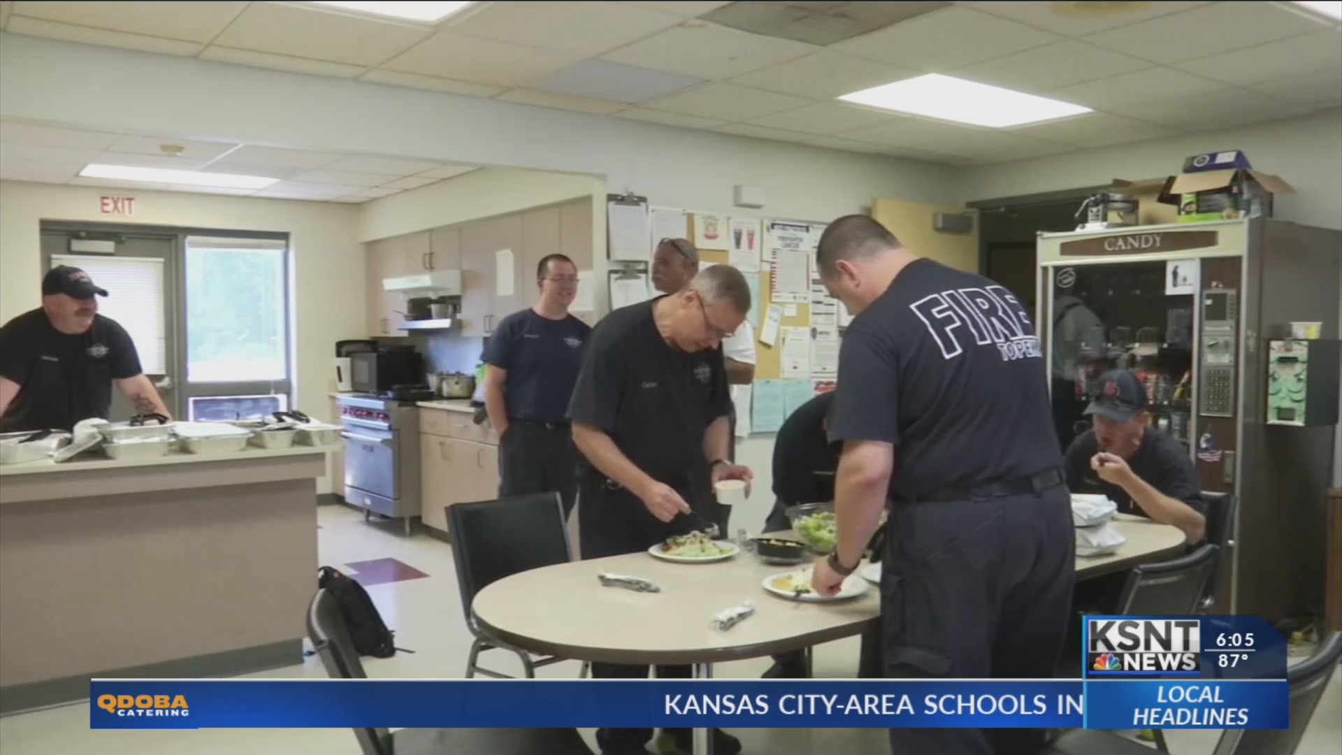 Topeka Olive Garden Delivers Food To Firefighters On Labor Day