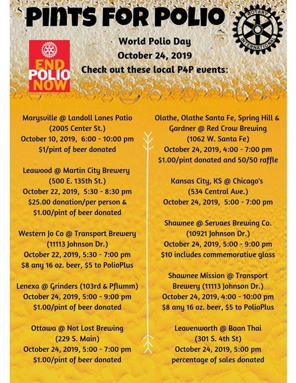Topeka Rotary Club prepares for World Polio Day