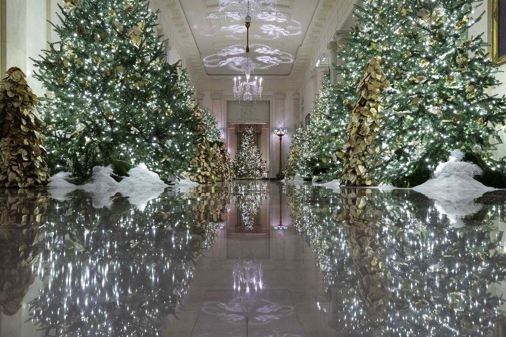 Whitehouse Christmas Trees 2021 First Lady Melania Trump Unveils 2019 White House Christmas Decorations Ksnt News