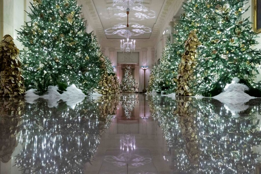 Whitehouse Christmas Images 2021 First Lady Melania Trump Unveils 2019 White House Christmas Decorations Ksnt News