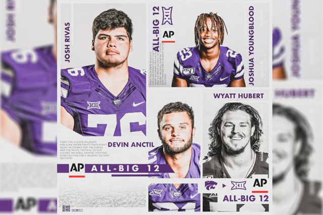4 K-State football players named to AP All-Big 12 teams