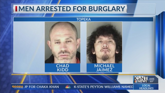 2 arrested for breaking into north Topeka home