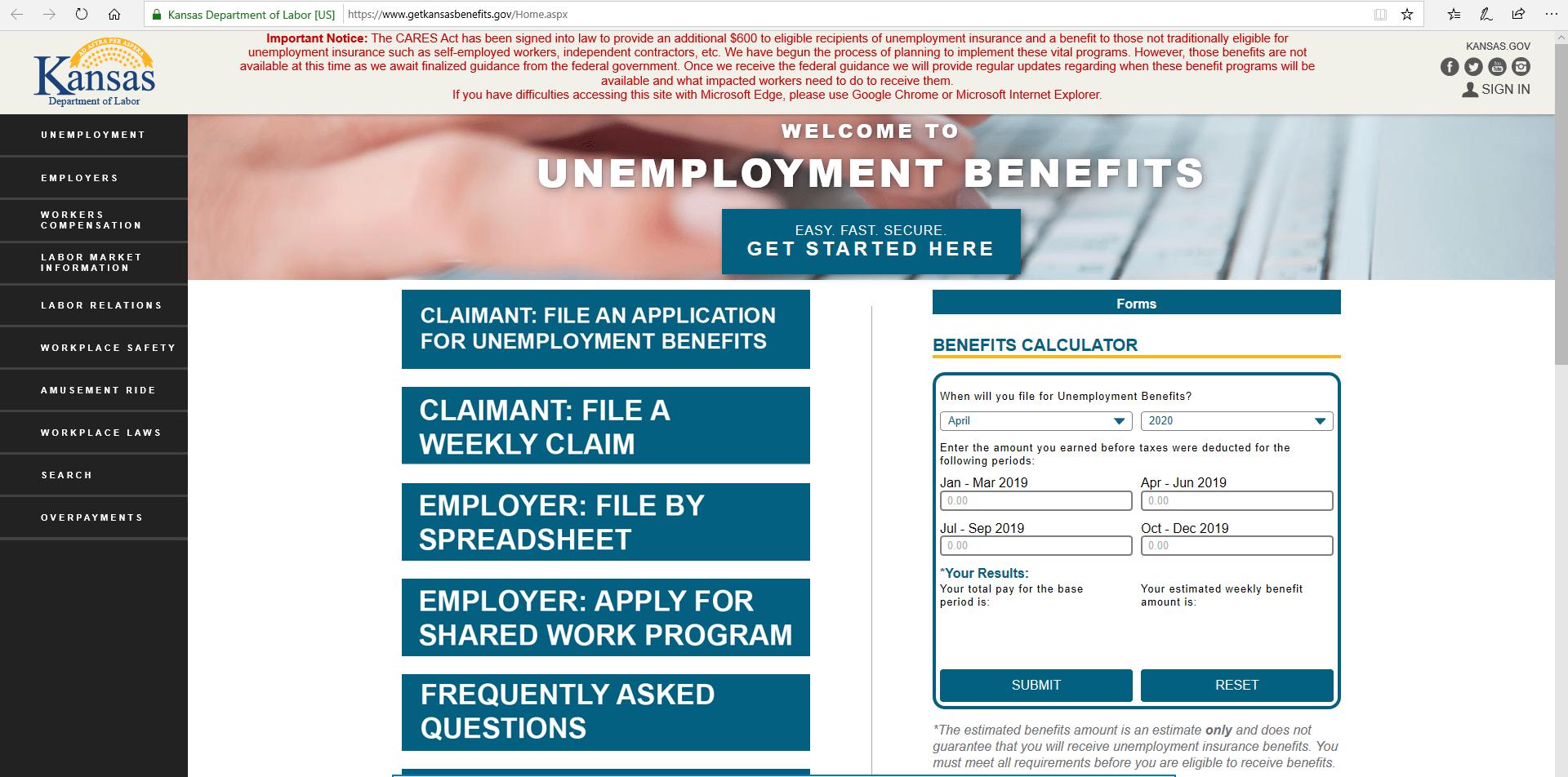 Kansas Unemployment Website Shutting Down Twice Tuesday Ksnt News