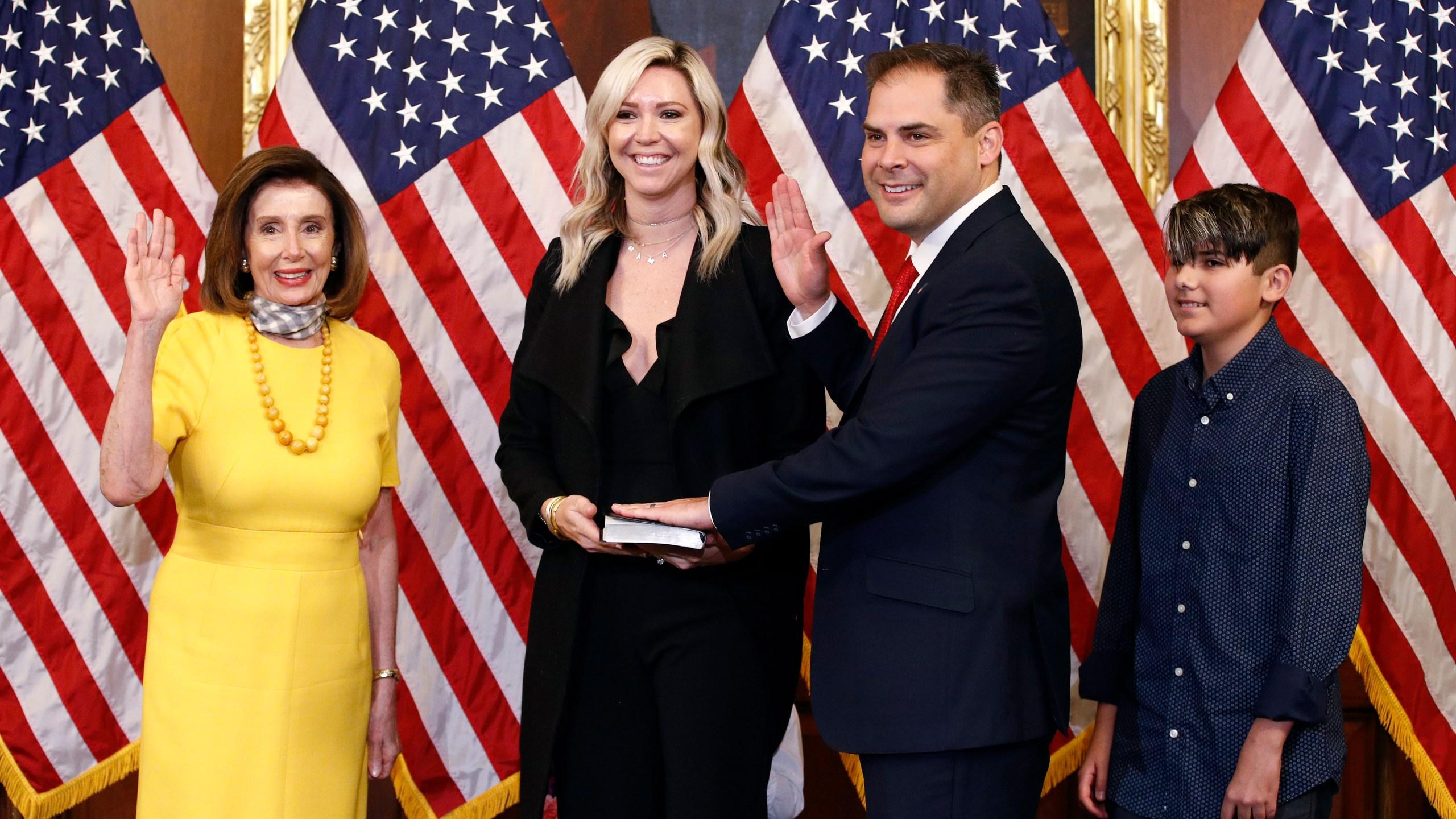 Nancy Pelosi, Mike Garcia, Rebecca Garcia, Preston Garcia