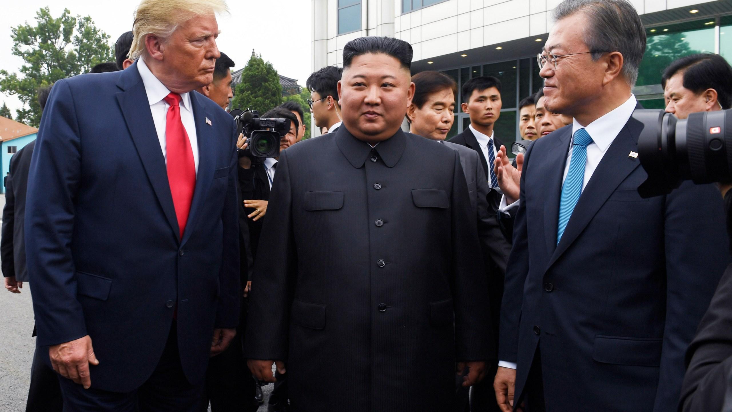 Donald Trump, Kim Jong Un, Moon Jae-in