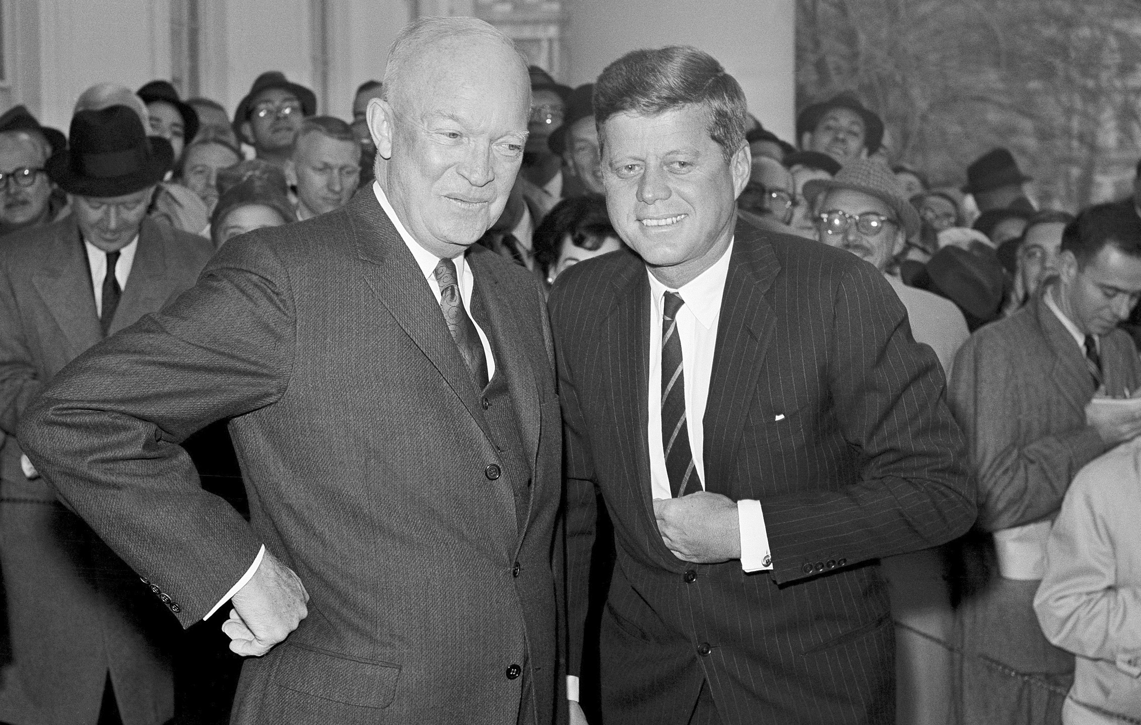 Dwight Eisnehower, John Kennedy, Dwight Eisenhower, John F. Kennedy