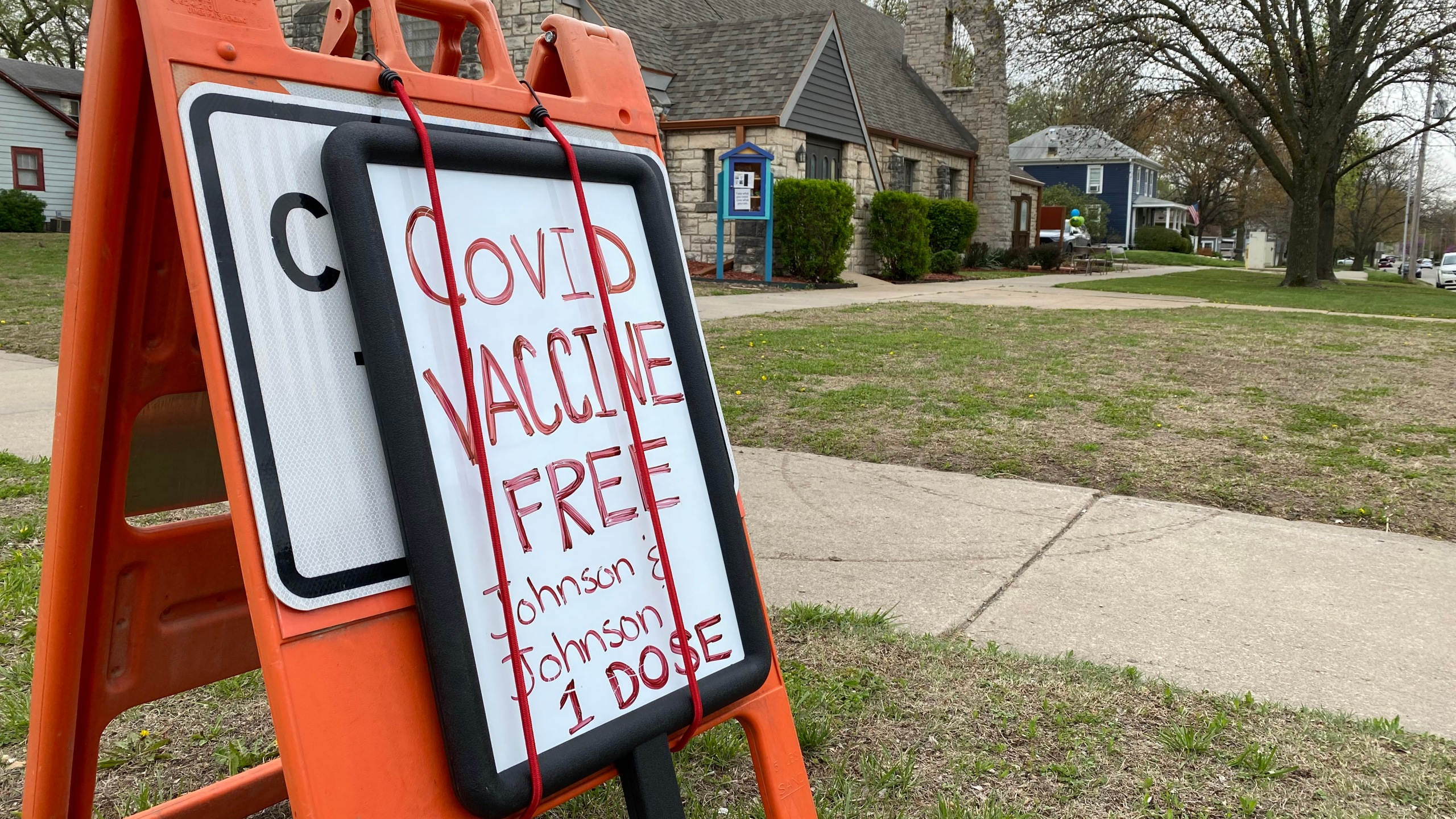 The Riley County Health Department held a mobile vaccination clinic on April 13, 2021 at the First Free United Methodist Church in Manhattan. KSNT News Photo/Noah Ochsner